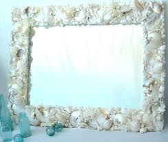 beach decor mirror large shabby chic turquoise distressed wall