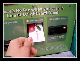 no fee gift cards no fee for turning your change into a bi lo gift card at coinstar