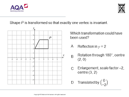 transformations and invariant points higher gcse maths qotw