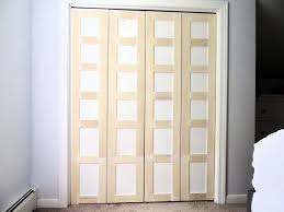 Exterior Wood Louvered Doors by Remodelaholic Bi Fold To Paneled French Door Closet Makeover