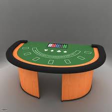Black Jack Table by Roulette Table 3d Model Cgstudio
