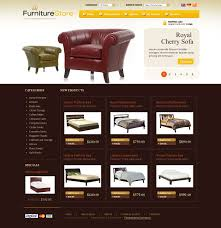 website template 27284 furniture store online custom website