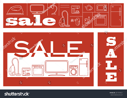 appliances deals black friday discounts on home appliances sale black stock vector 351434921