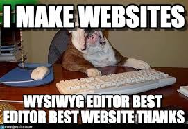 Meme Websites - i make websites dog boss meme on memegen