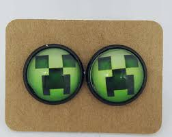 minecraft earrings minecraft jewelry etsy