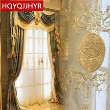 Curtains For Living Room Windows European Royal High End Custom 3d Jacquard Blackout Curtains For