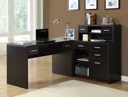 shelf floor l with home office modern home office furniture of dark l shaped computer