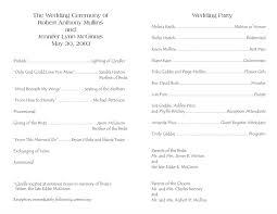 In Memory Of Wedding Program Designs Stylish Free Wedding Program Border Templates With