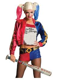 squad harley quinn wig and inflatable bat set accessories
