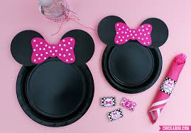 minnie mouse party free printable minnie mouse ears for plates hot pink baby pink