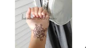 how to make a fake henna tattoo with pen youtube