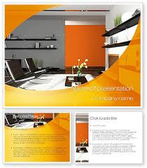 home interior design powerpoint template with home interior design