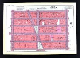 Map Of Penn Station 1955 Bromley New York City Map Garment Midtown Herald Square