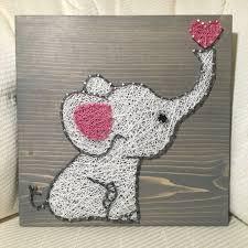 elephant string art baby love nursery nail thread order