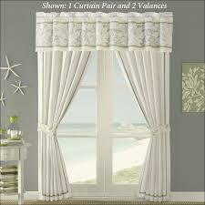 Sea Shell Curtains Living Room Amazing Ocean Valances Seashell Curtains Panels
