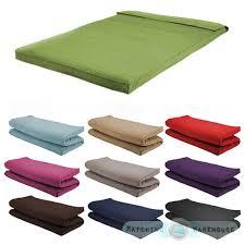 fabric double size futon mattress folding foam filled removeable
