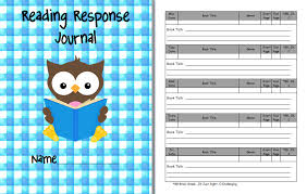 8 best images of printable reading response journal reading