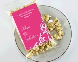 popcorn sayings for wedding personalized classic themed caramel corn wedding favors my