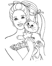 barbie colouring pages free download coloring pages kids ninja