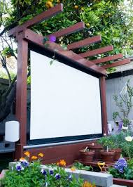 diy backyard movie screen ct outdoor