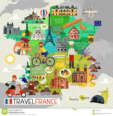 Map Of Brittany France by France Landmarks And Travel Map France Travel Icons Vector