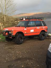 orange range rover range rover classic bobtail off roader sell swap in cairndow