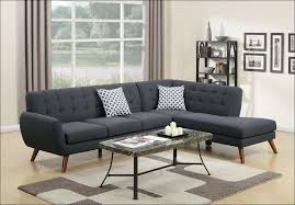 Black Microfiber Sectional Sofa With Chaise Living Room Amazing Black Sectional Black And Grey Sectional