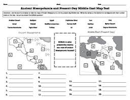 middle east map test ancient mesopotamia and middle east map test by gantt tpt