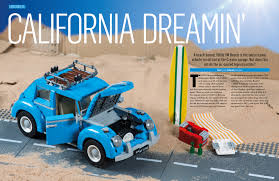 lego volkswagen beetle get ready to enter the magical world of lego with bricks magazine
