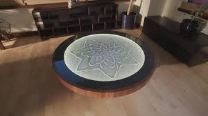 Wooden Table Surface Perspective Png This Zen Coffee Table Creates Gorgeous Patterns Using Magnets And