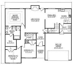 2000 sq ft floor plans house plan 54440 at family home plans