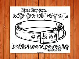 the u0027belt of truth u0027 printable is a simple coloring sheet that