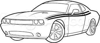 how to draw a 2014 dodge challenger step by step cars draw cars