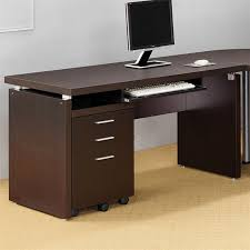 Lowes Computer Desk Shop Coaster Furniture Contemporary Cappuccino Computer Desk