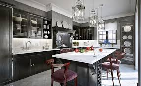 Kitchen And Dining Room Layout Ideas Kitchen Awesome Grey And Black Traditional Kitchen Traditional