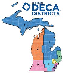 Allegan Michigan Map by Michigan Deca U2013 District Conferences
