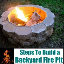 Build A Backyard Fire Pit by How To Build A Backyard Fire Pit Diy Home Things