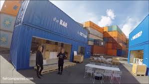 gothenburg stacked shipping containers as instant house offices