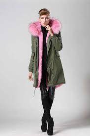 2017 korea style long women coat faux fur inside pink color lining