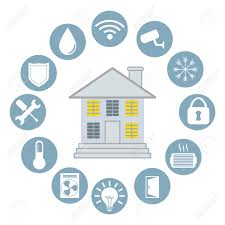 Smart Home Design Vector Illustration Eps Graphic Royalty Free - Smart home design