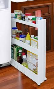 Kitchen Cabinets Slide Out Shelves by Amazon Com Slim Slide Out Storage Tower Ideal In Your Kitchen