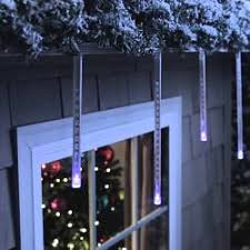 20 battery operated musical twinkling multi colored led icicle
