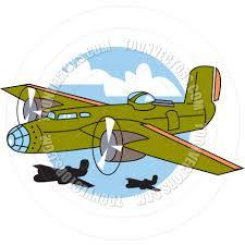 cartoon bomber plane vector illustration by clip art guy toon