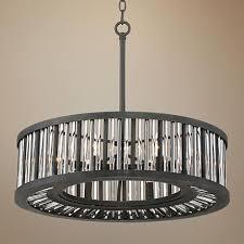 Pendant Light Rods Brixton Black And Silver 24 Wide Drum Pendant Light Drum