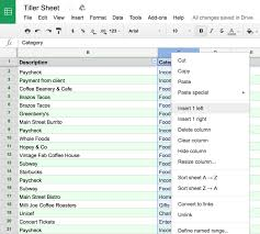 Money Spreadsheet Three Simple Steps To Track Spending With Subcategories In Your