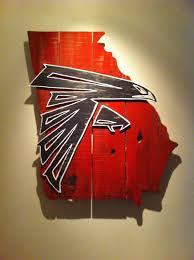 Atlanta Falcons Home Decor by Wooden State Of Georgia With Atlanta Falcons Logo