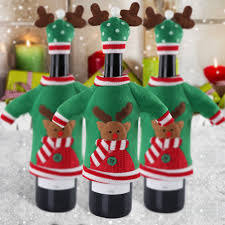 New Year Party Decoration Items by Ourwarm 3pcs Red Wine Bottle Cover New Year U0027s Products Christmas