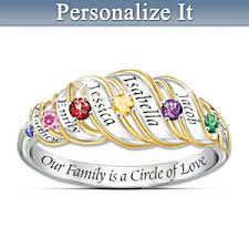 family ring our family is a circle of sterling silver personalized