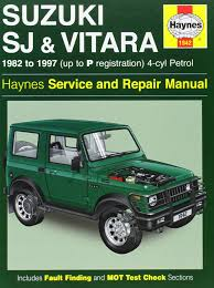 suzuki jimny sj410 suzuki sj410 sj413 82 97 u0026 vitara service and repair manual