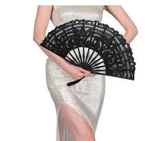 black lace fan handmade lace fans for weeding